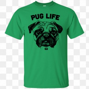 T-shirt - T-shirt Pug Top Casual PNG