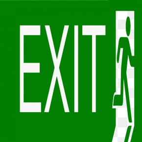 Exit Sign Picture - Exit Sign Free Content Emergency Exit Clip Art PNG