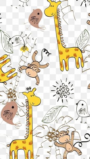 Cartoon Giraffe - Drawing Photography Pattern PNG