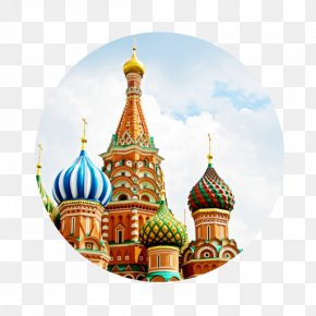 Moscow - Saint Basil's Cathedral Moscow Kremlin Church Of The Savior On Blood Desktop Wallpaper PNG