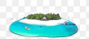 Blue Hawaiian Island Summer Background - Blue Hawaii PNG