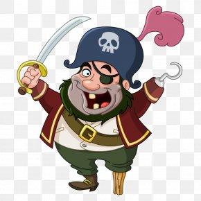 Vector Pirate - Piracy Cartoon Royalty-free Clip Art PNG