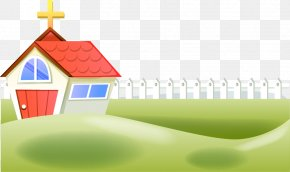 Cartoon Spring Grass Fence Fence Fence - Cartoon Property Illustration PNG
