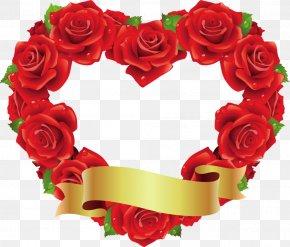 Heart Rose - Heart Rose Red Shape Flower PNG