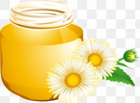Cartoon Honey Honey Pot - Honey Bee Honey Bee Euclidean Vector PNG