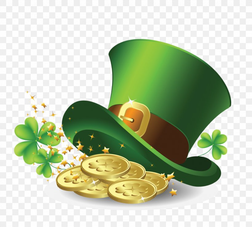 Saint Patrick's Day Hat Gold Clip Art, PNG, 1024x922px, Saint Patrick S Day, Clover, Fourleaf Clover, Gold, Gold Coin Download Free