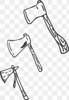 Vector Ax - Black And White Download Axe PNG