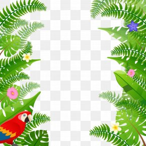 Copywriter Green Background Frame - Summer Poster PNG
