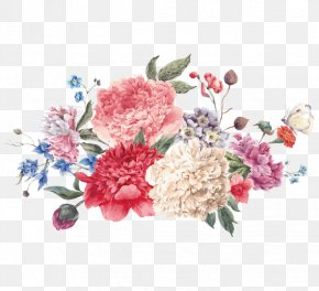 Chinese Wind Peony Vector - Flower Watercolor Painting Illustration PNG