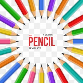 Colored Pencils Arranged In Circle - Word Creativity Stock Photography Clip Art PNG