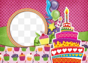 Fun Birthday Frames - Birthday Cake Picture Frame PNG