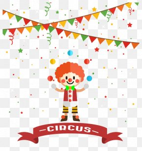 Vector Cute Clown FIG. - Poster Circus Party Child PNG