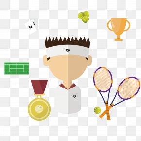 Tennis Player - Tennis Badminton Racket Illustration PNG