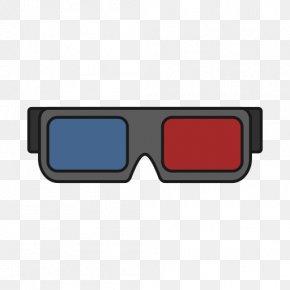 Movie Theatre - Glasses Cinema 3D Film PNG