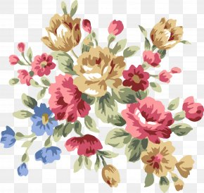 Flower Pattern Elements - Centifolia Roses Floral Design Flower Chemical Element PNG