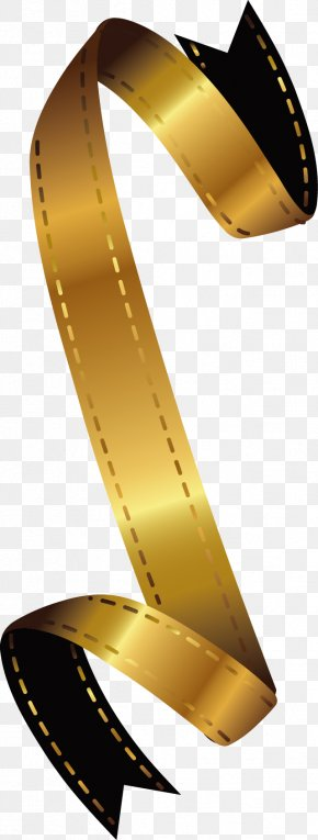 Gold Ribbon Vector Design PNG