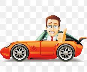 Car,car,Orange Car,Cartoon Car,Cars Posters Element - Lightning McQueen Mater Cars Cartoon PNG