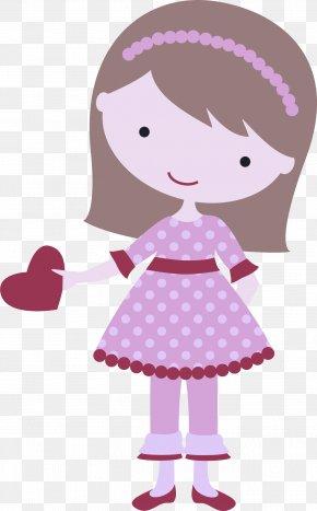 Toy Dress - Cartoon Pink Doll Violet Magenta PNG