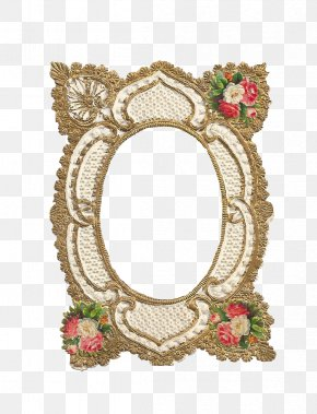 Gold Flower - Victorian Era Borders And Frames Picture Frames Clip Art PNG