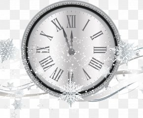 Silver Snowflake Countdown Clocks - Countdown New Years Eve Clock PNG