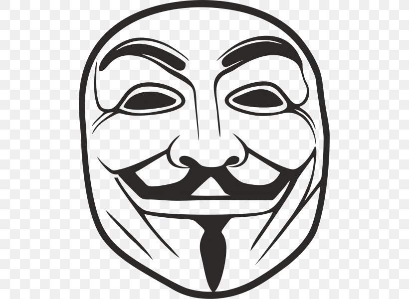Guy Fawkes Mask Anonymous Drawing, PNG, 600x600px, Guy Fawkes Mask, Anonymity, Anonymous, Art, Black And White Download Free