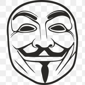 Anonymous - Guy Fawkes Mask Anonymous Drawing PNG