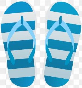 Blue Flip Flops Transparent Clip Art Image - Flip-flops Clip Art PNG