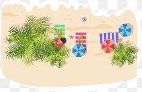Vector Beach - Tropical Islands Resort Beach Landscape Euclidean Vector PNG
