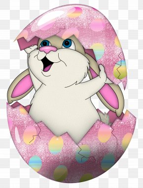 Easter Cute Bunny In Egg Transparent Clipart - Easter Bunny Egg Hunt Easter Egg Clip Art PNG