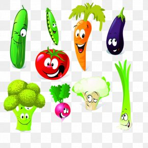 Hand-painted Vegetable Daquan - Vegetable Cartoon Broccoli Clip Art PNG