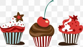 Vector Chocolate Cupcakes - Cupcake Muffin Chocolate Cake Sundae PNG