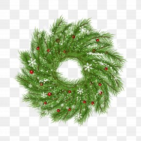 Vector Christmas Wreath - Christmas Tree Wreath Garland Santa Claus PNG
