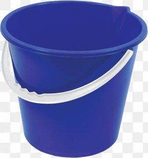 Plastic Blue Bucket Image Free Download - Bucket Clip Art PNG