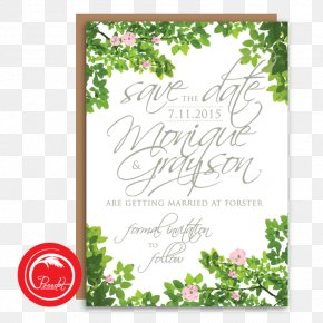 Save The Date Invitation - Wedding Invitation Floral Design Save The Date Engagement PNG