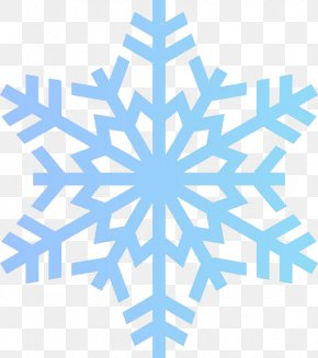 Blue Snowflake Rules - Snowflake Free Content Clip Art PNG