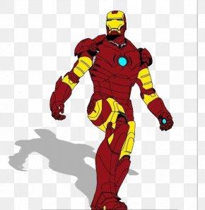 The Iron Man Standing - Iron Man Spider-Man Cartoon Superhero Clip Art PNG