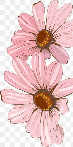 Fresh Watercolor Painted Floral Decoration - Drawing Watercolor Painting Floral Design PNG