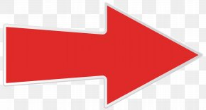 Red Right Arrow Transparent Clip Art Image - Logo Line Angle Brand PNG