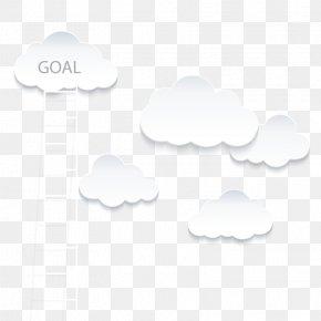Vector Cloud Ladder - Cloud White Euclidean Vector PNG