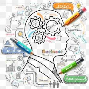 Brain Thinking - Stock Illustration Icon PNG