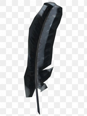 Feather Watercolor - Black M PNG