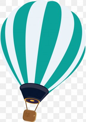 Striped Hot Air Balloon Vector - Hot Air Balloon Euclidean Vector PNG