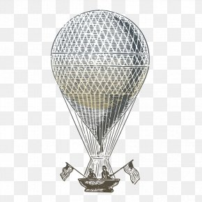 Boat Under The Big Ball - Hot Air Balloon Air Travel Clip Art PNG