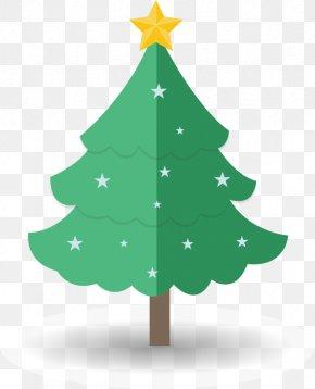 Hand-drawn Cartoon Christmas Tree Star Pattern - Christmas Tree Cartoon Drawing PNG