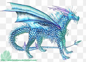 Dragon - Dragon Drawing Ice Art Feather PNG
