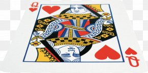 Cards - Playing Card Card Game Queen Of Hearts PNG