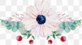 Flower Silhouette Art Watercolor - Watercolor Painting Image Clip Art PNG