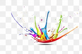 Color Splash Background Decorative Figure - CMYK Color Model Splash Paint PNG