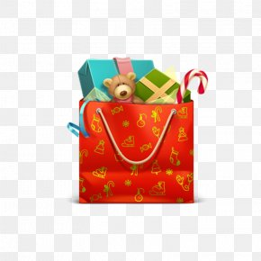 Christmas Gift Bag Image - Christmas Gift Icon PNG
