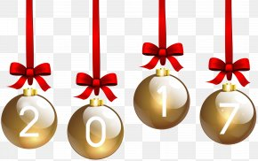 2017 Christmas Balls Transparent Clip Art - Christmas Day Christmas Ornament New Year Clip Art PNG